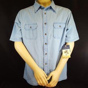 835828d5a04  NEW  CROFT   BARROW (XL) Light Denim Blue Shirt